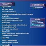 Programação da Semana dos Feras da FDA