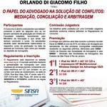 """VIII Concurso Nacional de Monografia orlando Di Giacomo Filho - tema: """"O papel do Advogado na solução de conflitos: mediação, conciliação e arbitragem"""""""